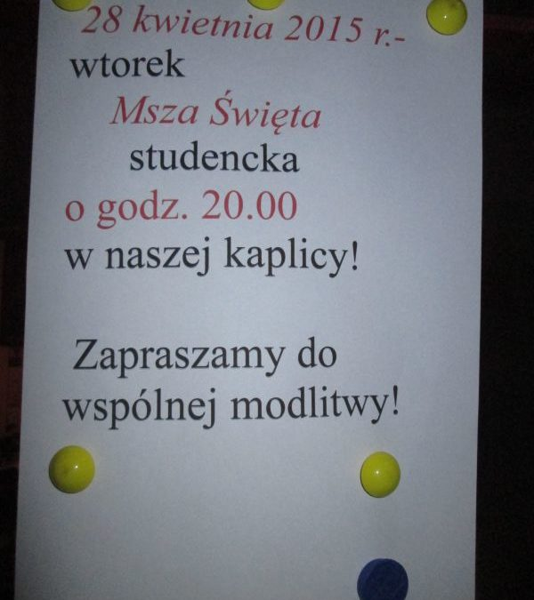 Kwietniowa Msza św. i urodziny..